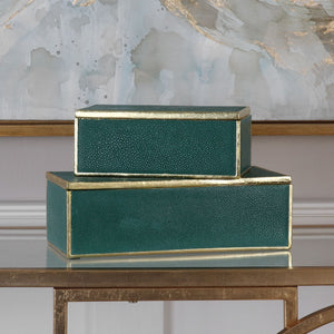 Karis Emerald Green Boxes