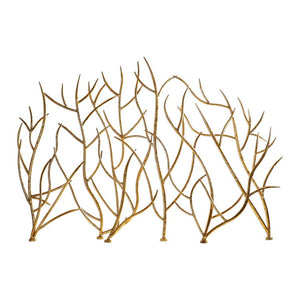 Gold Branches Decorative Fireplace Screen - taylor ray decor