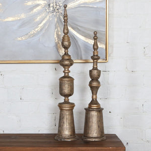 Nalini Antique Gold Finials, S/2 - taylor ray decor