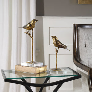 Passerines Bird Figurines, S/2