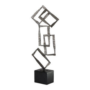 Talal Brushed Nickel Sculpture