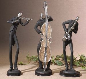 Musicians Decorative Figurines, Set/3 - taylor ray decor