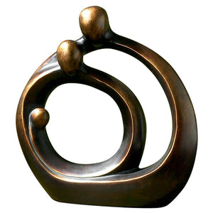 Family Circles Bronze Figurine