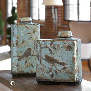 Freya Light Sky Blue Containers, Set/2 - taylor ray decor