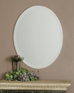 Frameless Vanity Oval Mirror - taylor ray decor