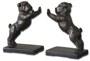 Bulldogs Cast Iron Bookends, Set/2