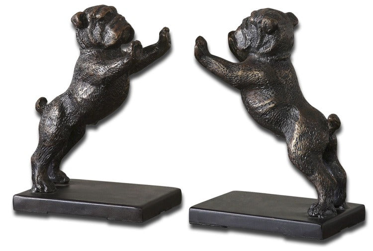 Bulldogs Cast Iron Bookends, Set/2 - taylor ray decor
