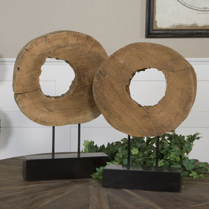 Ashlea Wooden Sculptures S/2 - taylor ray decor