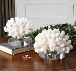 Hard Coral Sculptures, S/2 - taylor ray decor