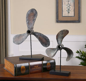 Propellers Rust Sculptures, S/2 - taylor ray decor