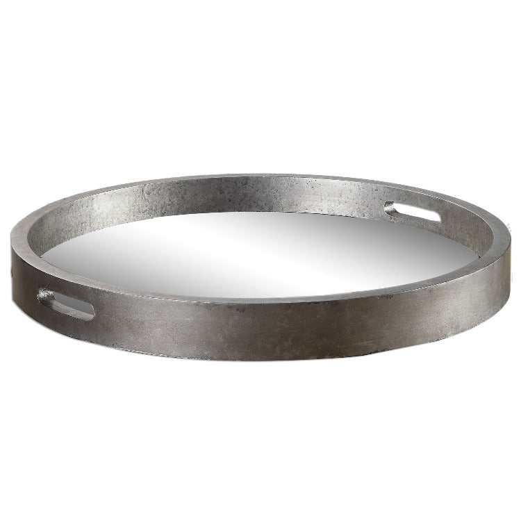 Bechet Round Silver Tray - taylor ray decor