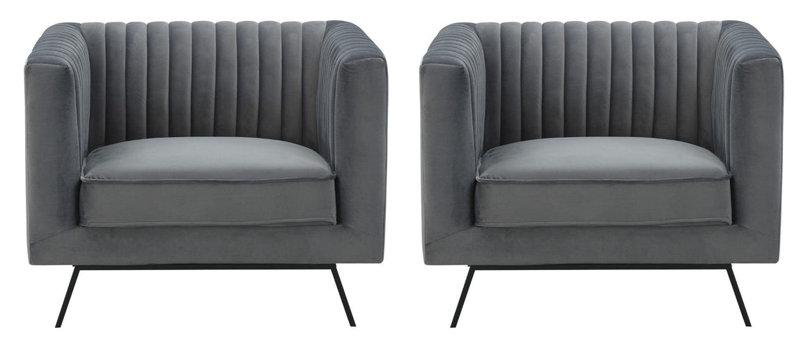 Vandam Velvet Armchairs - Set of 2