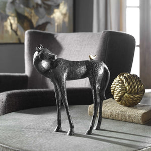 Hello Friend Cast Iron Horse Sculpture - taylor ray decor