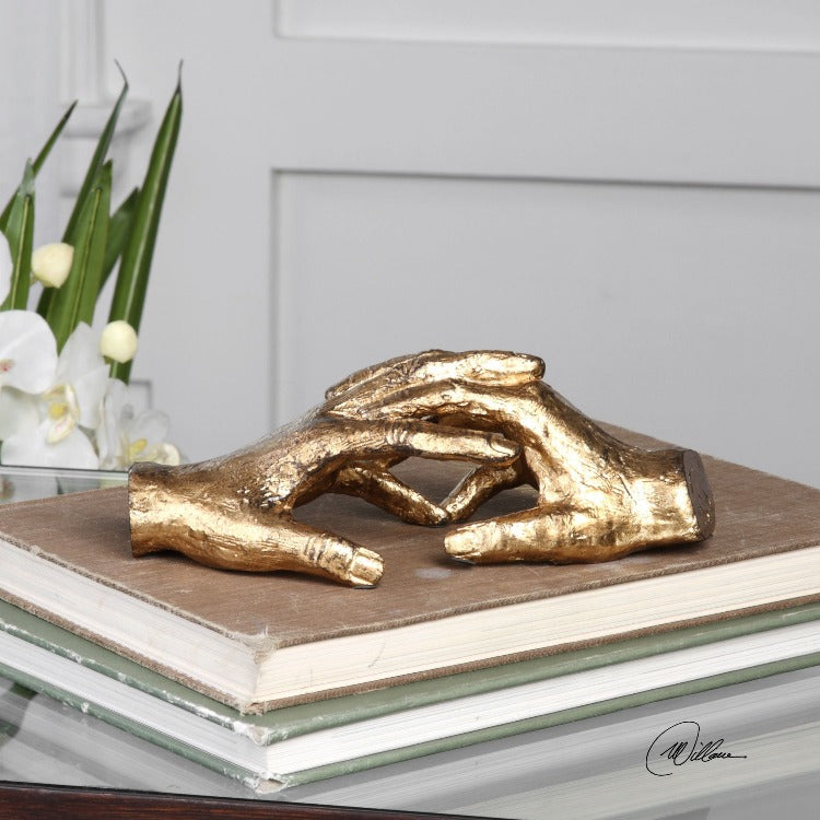 Hold My Hand Gold Sculpture - taylor ray decor