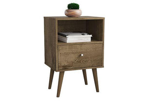 Liberty Nightstand in Rustic Brown