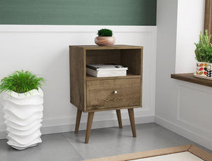 Liberty Mid-Century Modern Cubby Nightstand 1.0