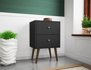 Liberty Mid-Century Modern Nightstand 2.0 in Black