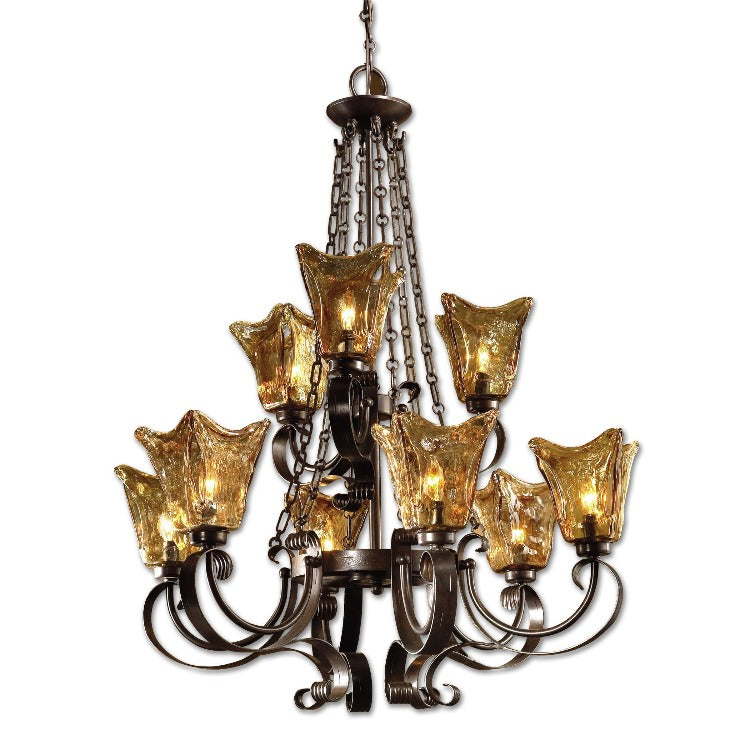 Vetraio 9Lt. Oil Rubbed Bronze Chandelier