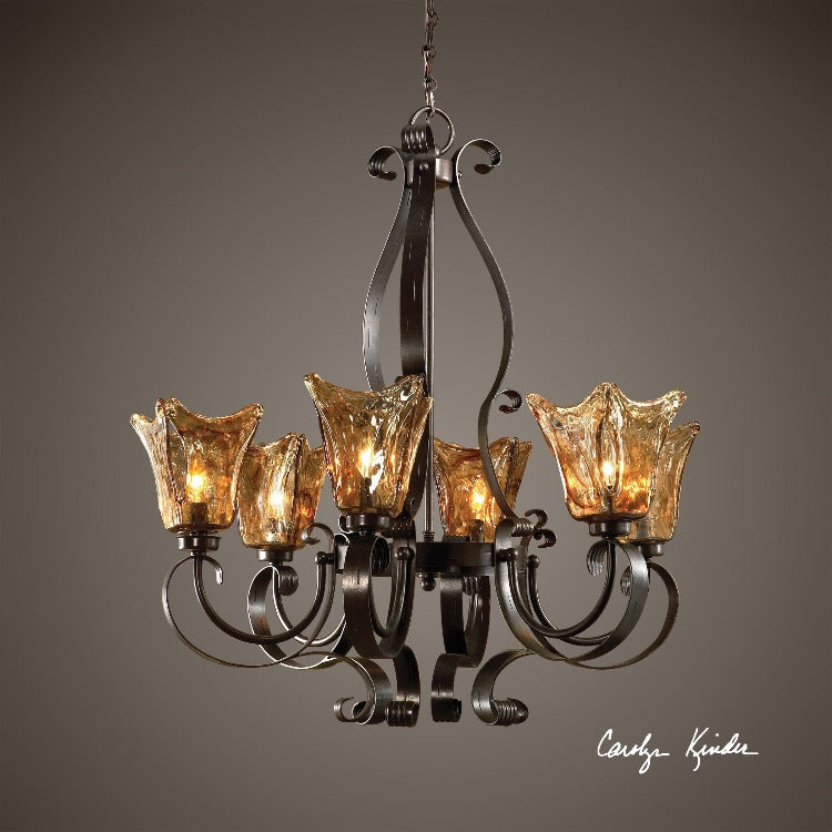 Vetraio 6-Lt Oil Rubbed Bronze Chandelier - taylor ray decor