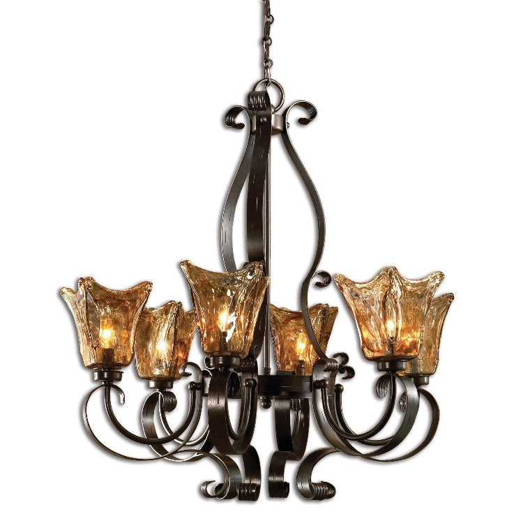 Vetraio 6-Lt Oil Rubbed Bronze Chandelier