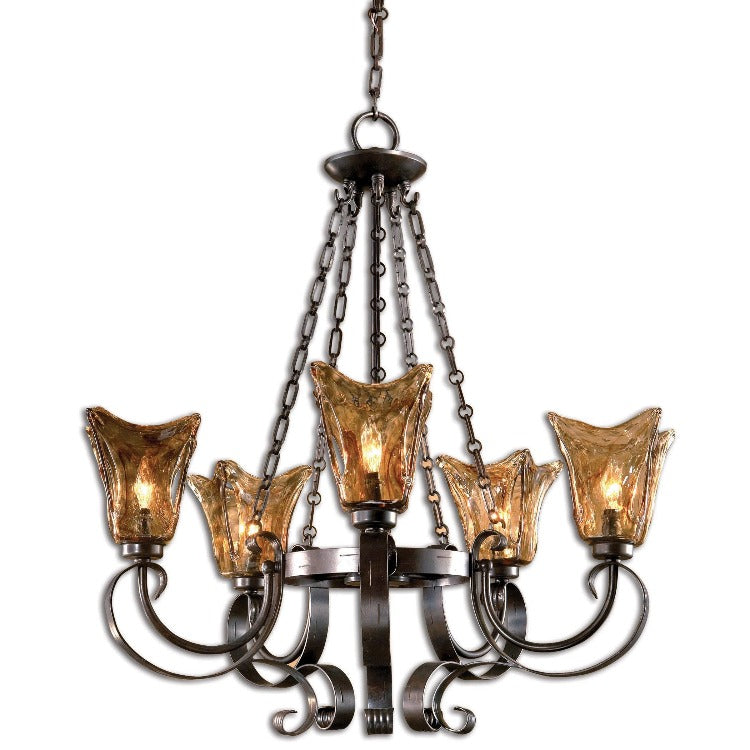 Vetraio 5Lt Oil Rubbed Bronze Chandelier - taylor ray decor