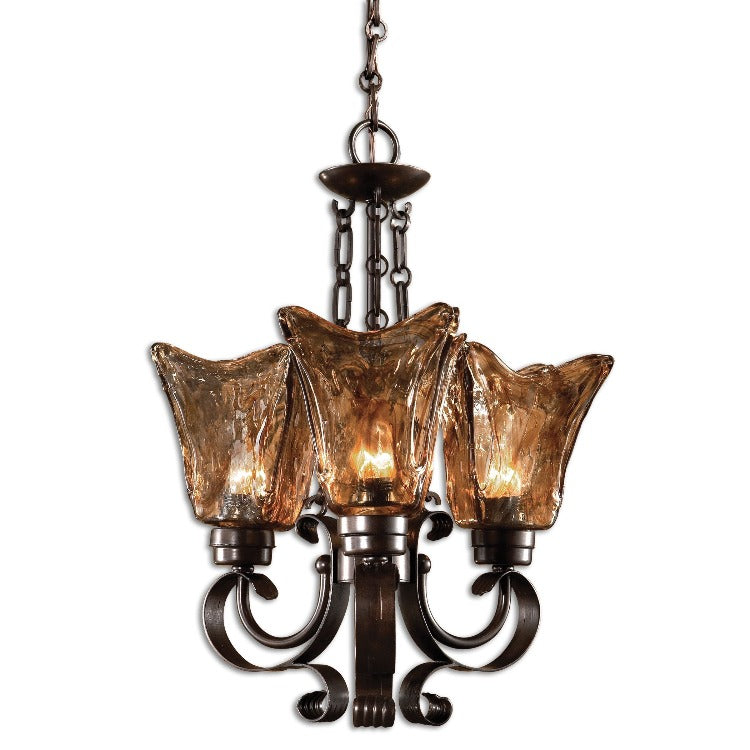 Vetraio 3Lt Oil Rubbed Bronze Chandelier - taylor ray decor