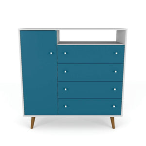 Liberty Sideboard in White and Aqua Blue