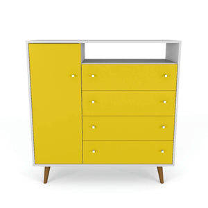 Liberty Sideboard in White and Yellow