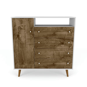 Liberty Sideboard in White and Rustic Brown