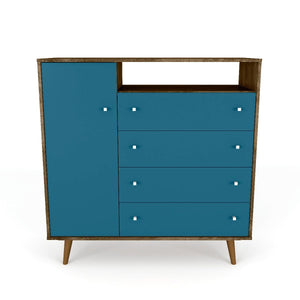Liberty Sideboard in Rustic Brown and Aqua Blue