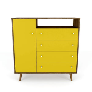 Liberty Sideboard in Rustic Brown and Yellow