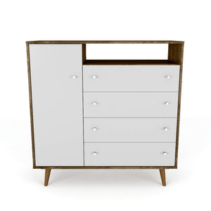 Liberty Sideboard in Rustic Brown and White