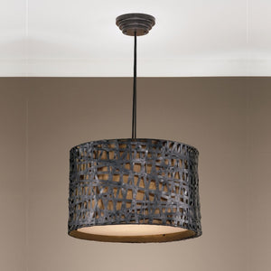 Alita Aged Black Drum Pendant - taylor ray decor