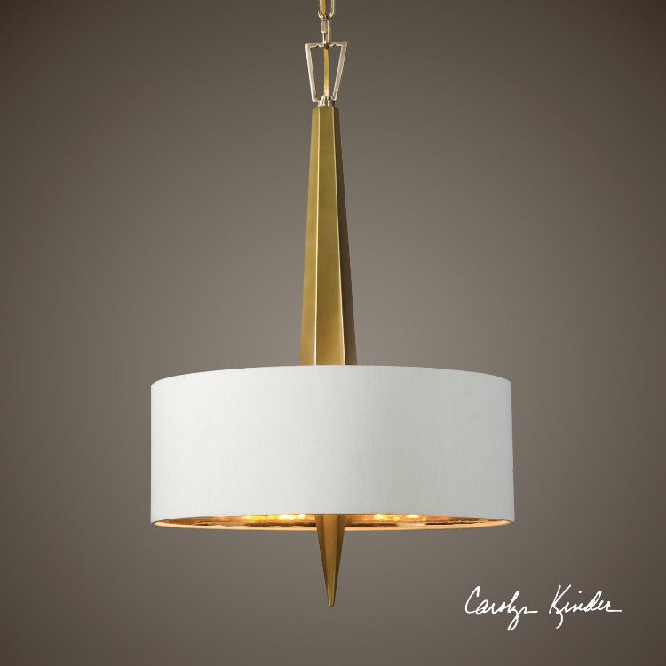 Obeliska 3 Light Gold Chandelier - taylor ray decor