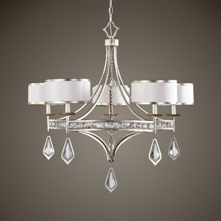 Tamworth 5 Light Silver Champagne Chandelier