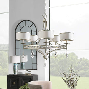 Tamworth 5 Light Silver Champagne Chandelier - taylor ray decor