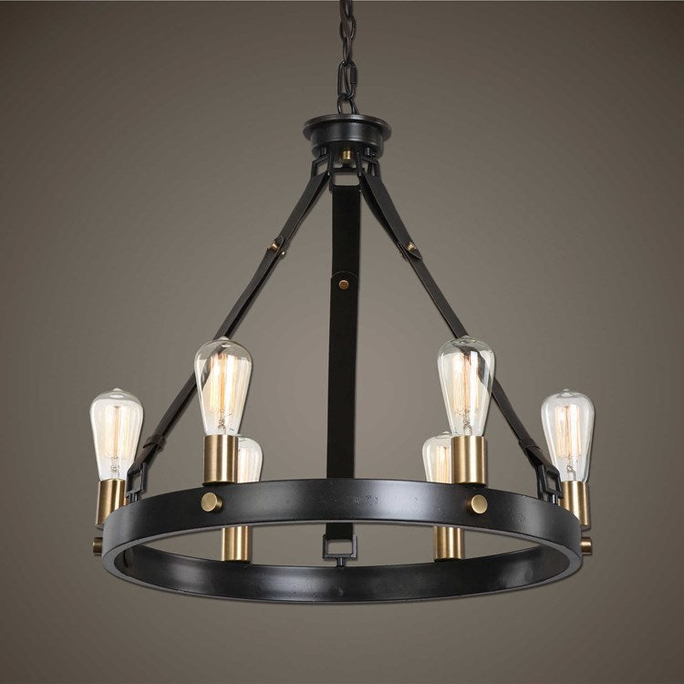 Marlow 6 Light Antique Bronze Chandelier - taylor ray decor