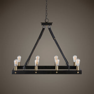 Marlow 8 Light Rectangle Chandelier - taylor ray decor