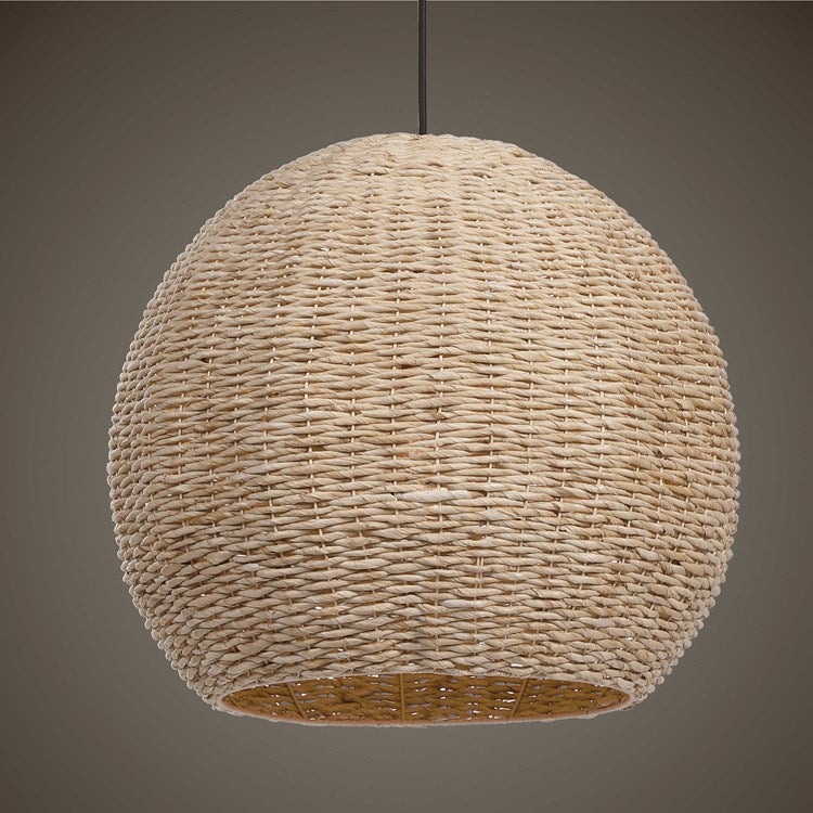 Seagrass Dome, 1 LT Pendant - taylor ray decor