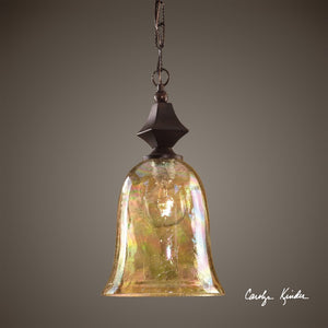 Elba Crackle Glass Mini Pendant - taylor ray decor