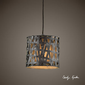 Alita Metal Mini Drum Pendant - taylor ray decor