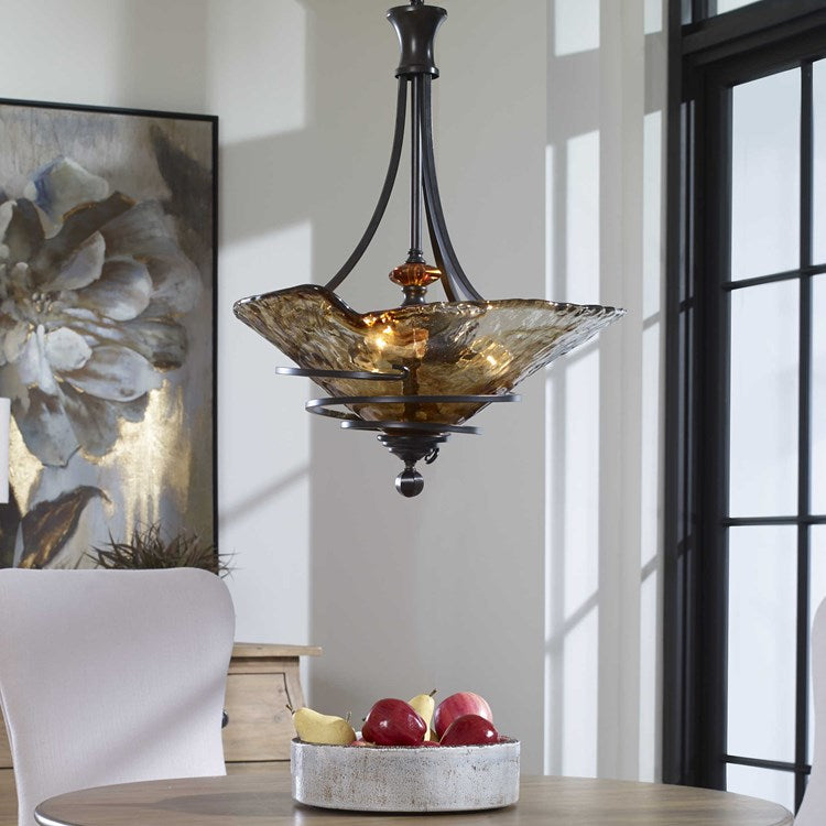 Vitalia 3 Lt Oil Rubbed Bronze Pendant - taylor ray decor