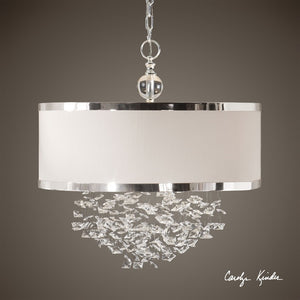 Fascination 3 Light Silken Drum Pendant - taylor ray decor