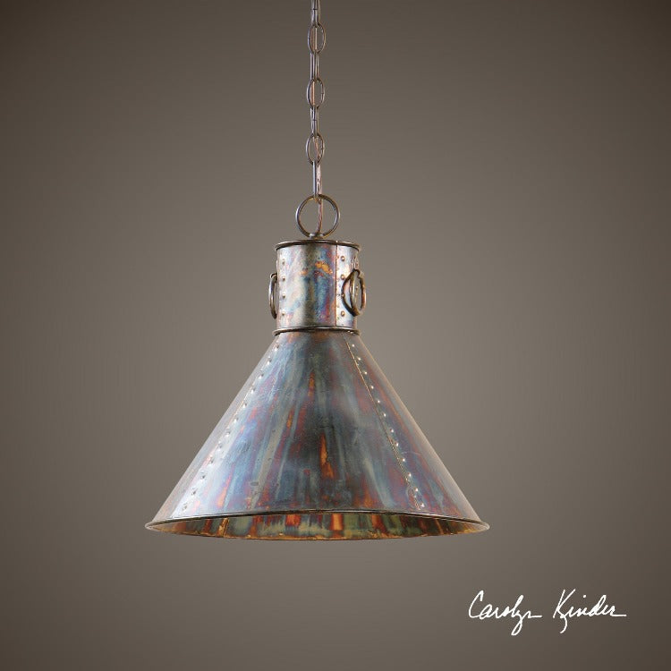 Levone 1 Light Oxidized Bronze Pendant - taylor ray decor