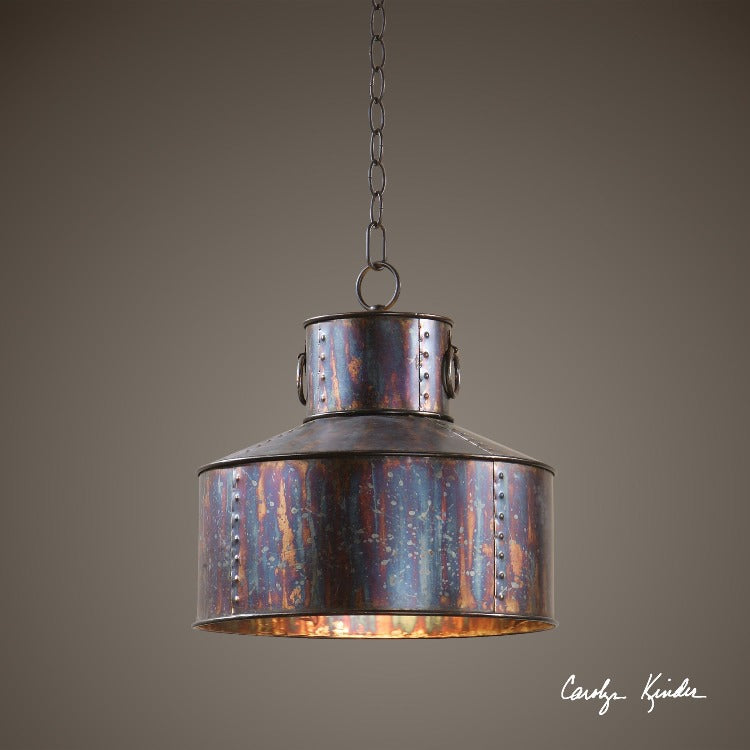 Giaveno 1 Light Oxidized Bronze Pendant - taylor ray decor