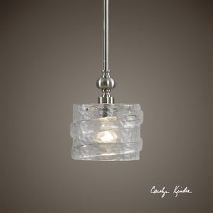 Mossa 1 Light Seeded Glass Mini Pendant - taylor ray decor