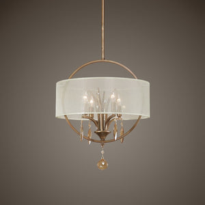 Alenya 4 Light Fabric Drum Pendant - taylor ray decor