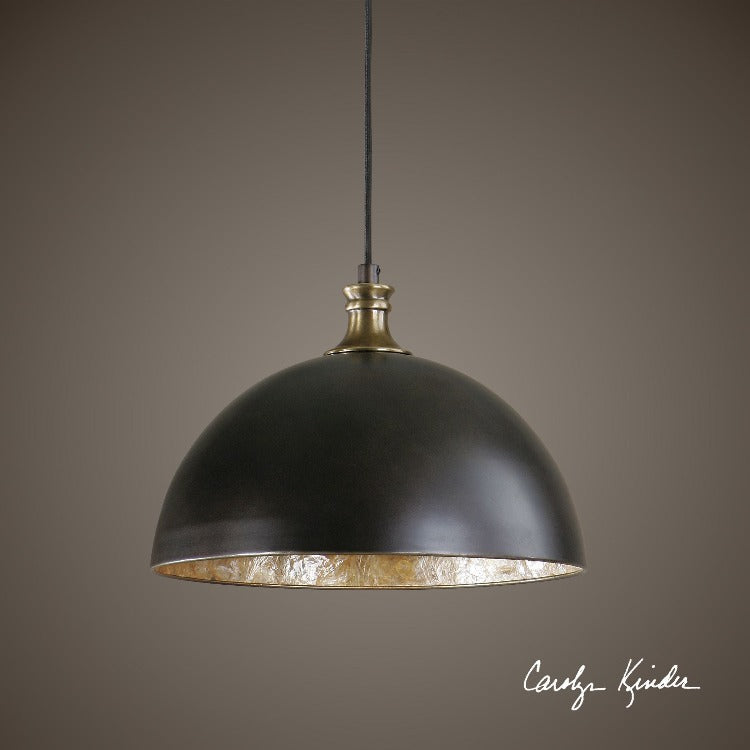 Placuna 1 Light Bronze Pendant - taylor ray decor