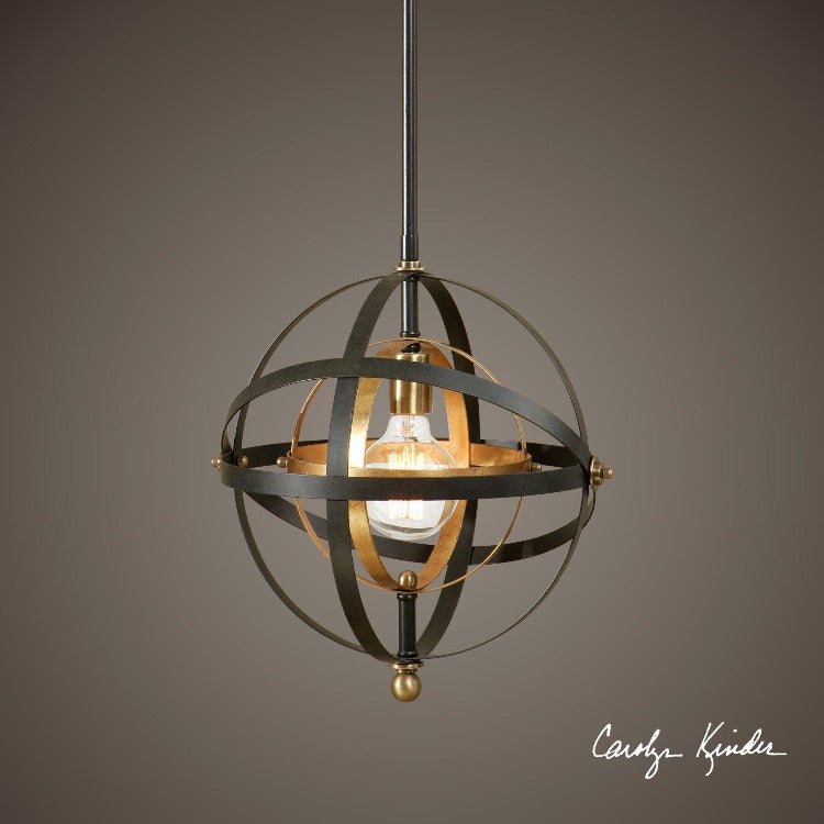 Rondure 1 Light Sphere Mini Pendant - taylor ray decor