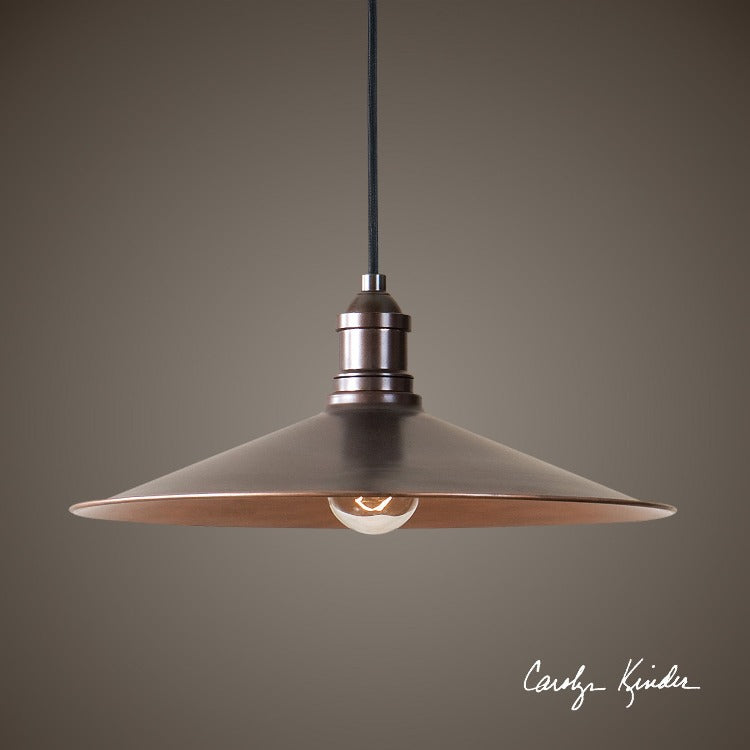 Barnstead 1 Light Copper Pendant